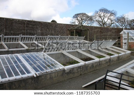 Vegetable Cold Frames Lost Gardens Heligan Stock Photo (Edit Now