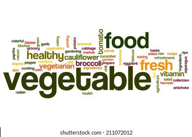 Vegetable concept word cloud background