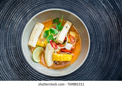 Vegetable curry with tofu