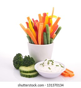 vegetable and dips
