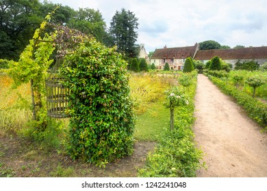 From the Vegetable and Flower Garden of the Chenonceau Castle (Chateau de Chenonceau), Loire Valley, France