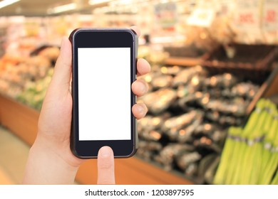 vegetable, food, smartphone and internet shopping