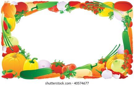 Vegetable frame. JPEG version.
