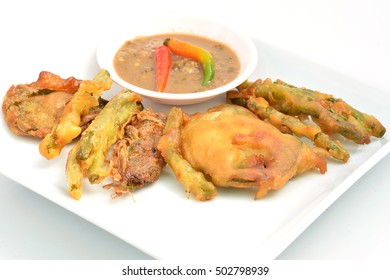 Vegetable fried and chili paste (Thai food)