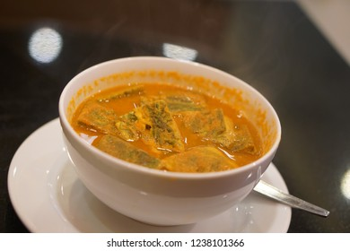 Vegetable fries in curry soup