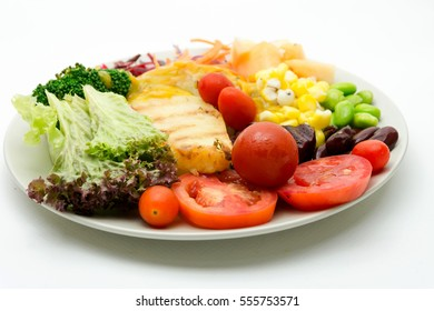 vegetable and fruit salad ,heathy food