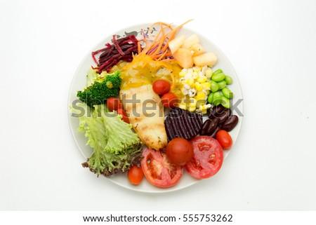 vegetable fruit salad heathy food stock photo edit now 555753262