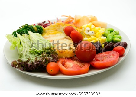 vegetable fruit salad heathy food stock photo edit now 555753532