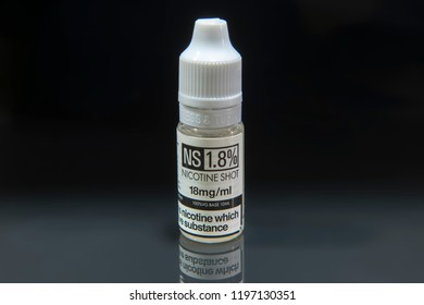 Vegetable Glycerine nicotine shot used to top up e-liquids that are put in e-cigs when vaping.