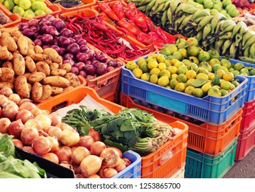 Vegetable grocery on the market.