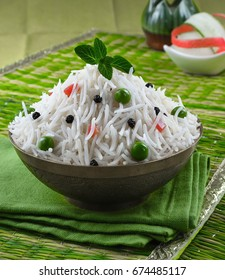 vegetable healthy long grain rice