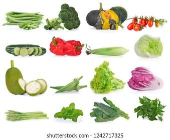 Vegetable isolated on white background.