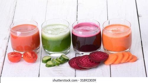 Vegetable juice ( carrot , beet , cucumber , tomato )