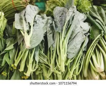 vegetable market, kale