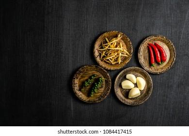 vegetable on blackboard background in vegetable on blackbord concept