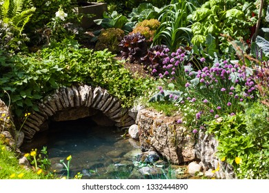 Vegetable patch in a beautiful garden