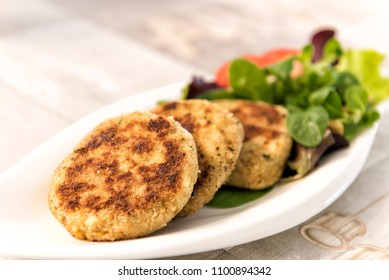 Vegetable Patty with Salad