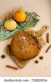 Vegetable pie from the pumpkin