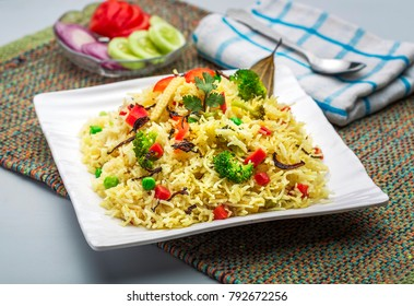 vegetable rice or veg biryani or cooked rice