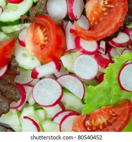 Vegetable salad. Can be used as background