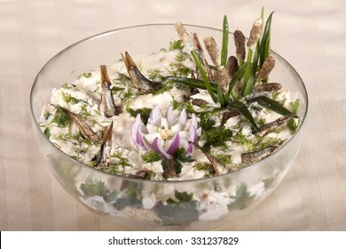 """Vegetable salad """"Fish in the pond"""""""