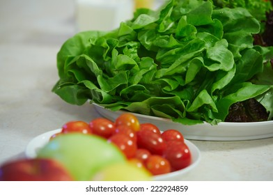vegetable salad on a plate