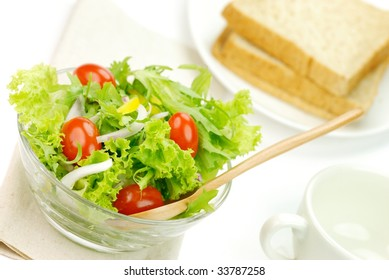 Vegetable Salad with Table Setting