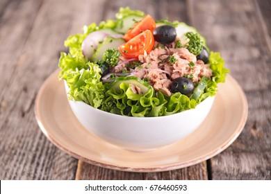 vegetable salad with tuna fish