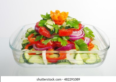 Vegetable salad.Close up.