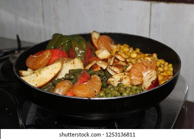 Vegetable Sizzler Plate