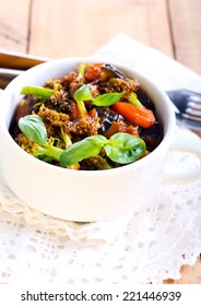 Vegetable stew in a bowl