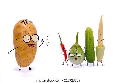 """Vegetable story """"Teacher Tomato"""""""