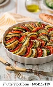 Vegetable tian, Provencal vegetable casserole, delicious and nutritious vegetarian meal