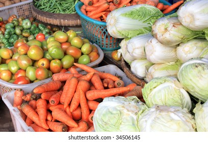 vegetable at traditional market