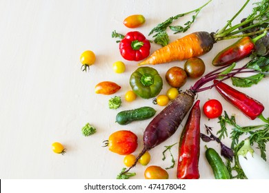 Vegetables in assortment.
