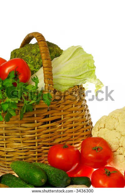 Vegetables and basket