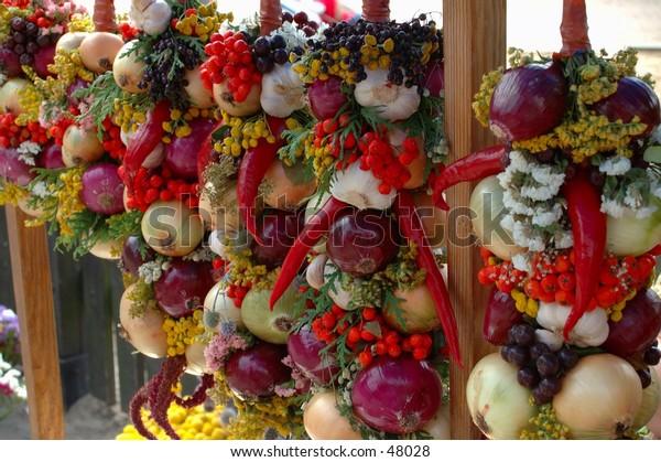 Vegetables decoration