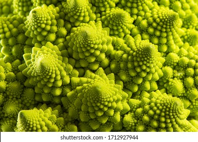 Vegetables. Detail of the romanesque cauliflower.
