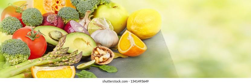 Vegetables food background.