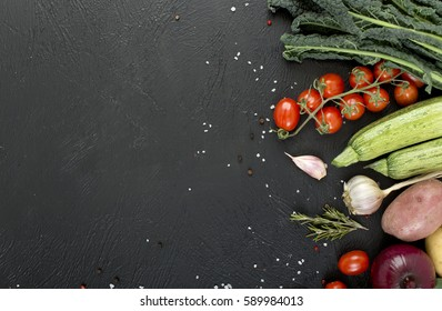 vegetables with fresh ingredients for healthily cooking