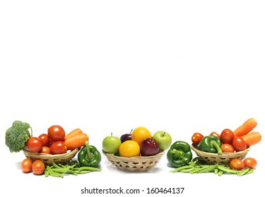 Vegetables and fruit for background