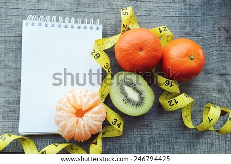 Cool Vegetables Fruits Weight Loss Measuring Tape Stock Photo Download Free Architecture Designs Scobabritishbridgeorg