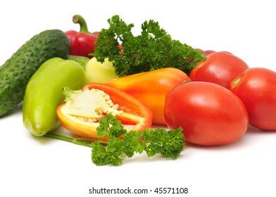 vegetables isolated on a white