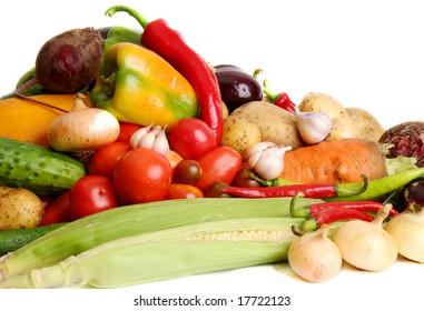 Vegetables from a kitchen garden