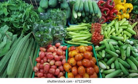 vegetables in market