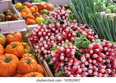 Vegetables at a market in France