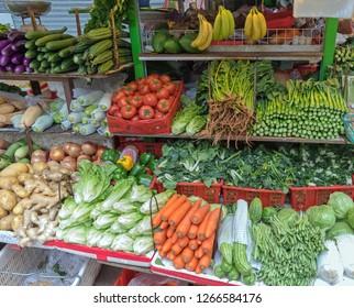 Vegetables Market Stall in Soho Hong Kong