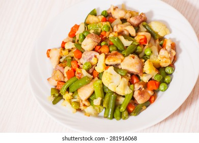 vegetables mix and chicken