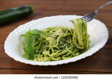 Vegetables noodles pasta of genovese