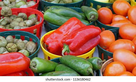 Vegetables on display at Farmers Market